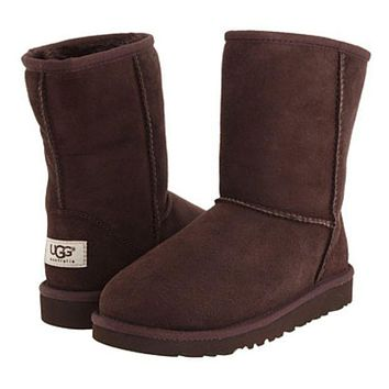 UGG Trending Women Men Casual Winter Warm Snow Boots Shoe Dark Coffee I