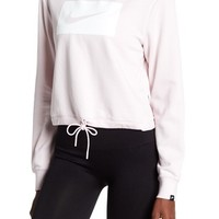 Nike | Cropped Crew Neck Swish Sweatshirt | Nordstrom Rack