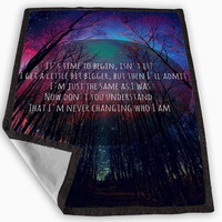 Imagine Dragons Quotes Blanket for Kids Blanket, Fleece Blanket Cute and Awesome Blanket for your bedding, Blanket fleece **