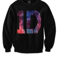One Direction Sweatshirt - 1D Galaxy Shirt - One Direction Shirt - 1D Sweatshirt One Direction Sweater - Directioner Sweatshirt HL0002