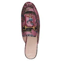 Pink Jacquard Donald Duck Slippers by Gucci
