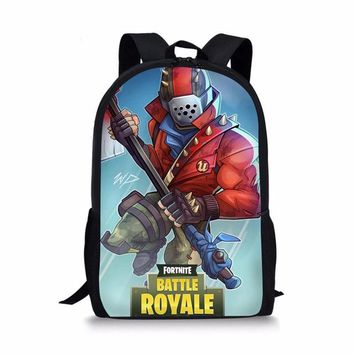 School Backpack trendy 3D Cartoon Fortnite Games Pattern  for Kids Girls Boys Preppy Style School bag Backpacks Children Book Bag AT_54_4