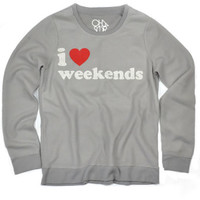 Chaser Clothing | Chaser - I Love Weekends Crew Sweatshirt » West Of Camden
