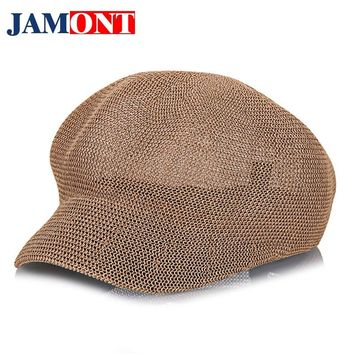 Women's Straw Knit Hat Breathable Sun Cap Summer Hat for Women Fashion Knit Hats Visor Women Leisure Caps JAMONT