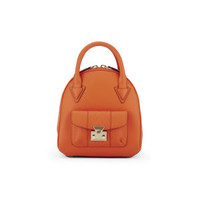 Matthew Williamson Mini Leather Dome Tote Bag - Orange