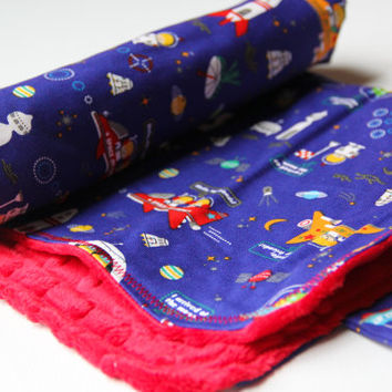 Baby Changing Mat Roll Up Pad with Japanese Robot Space Fabric Made To Order