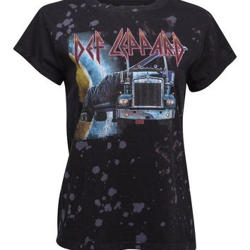 Def Leppard Distressed Band Tee by Recycled Karma