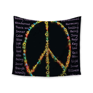 "Anne LaBrie ""Peaceful Meditation"" Black Rainbow Wall Tapestry"