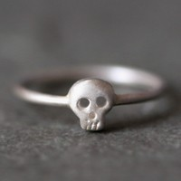 Baby Skull Ring in Sterling Silver by michellechangjewelry on Etsy