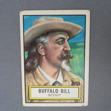 TOPPS 1950s Look 'n See Card, Buffalo Bill Collectible Card, Card No. 54, Christmas Gift