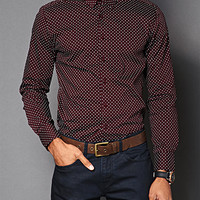 Polka Dot Slim Fit Shirt