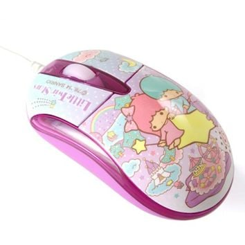 Little Twin Stars Light-Up USB Optical USB Mouse Stars Sanrio