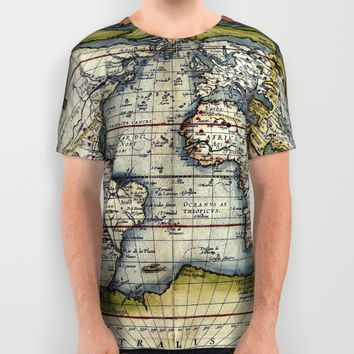 World map from the first modern atlas by Ortelius All Over Print Shirt by Jbjart | Society6
