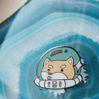 Cosmo Soft Enamel Pin 25mm, Space Shibe