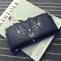 Men Stylish Fashion Rivet Wallet [9544307527]