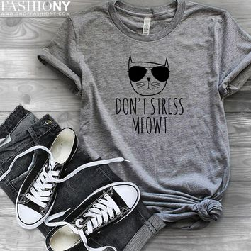 MORE STYLES! Don't Stress Meowt, Funny Graphic Tees, Tank-Tops & Sweatshirts