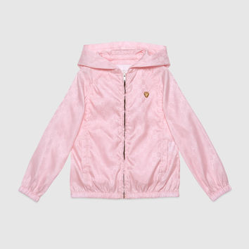 Gucci Children's GG nylon hooded jacket
