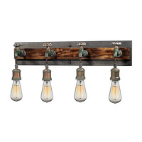 14283/4 Jonas 4 Light Vanity In Weathered Multitone - Free Shipping!
