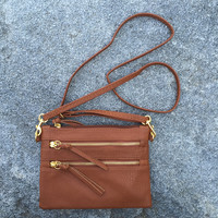 Claire Cross Body Bag-Brown