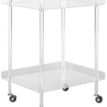 Healy Acrylic Kitchen Cart Clear