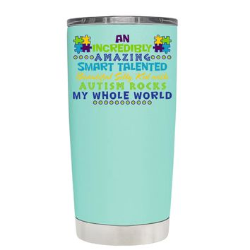 TREK An Amazing Smart Talented Kid with Autism on Seafoam 20 oz Tumbler Cup