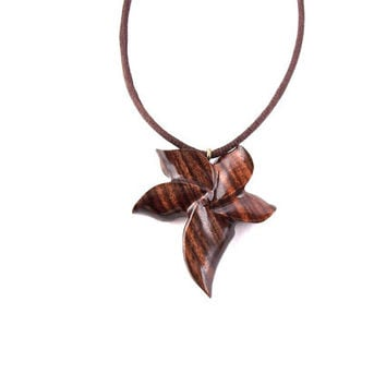 Flower pendant flower necklace wood from gatewayalpha wood for How to make a wooden pendant