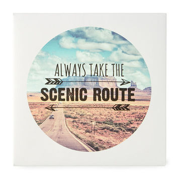 Always Take the Scenic Route Wall Canvas