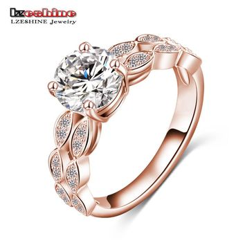 LZESHINE Brand 2016 Bride Ring Gold/Silver Color Micro Pave Clear AAA Cubic Zirconia Desirable Ring Gift CRI0007