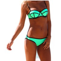 Ebuddy Luxury Diving Suit Material-neoprene Bikini Set Swimsuit Swimwear