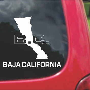 Baja California Mexico Outline Map Sticker Decal 20 Colors To Choose From.