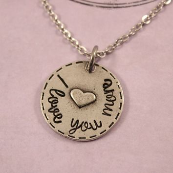 """I love you more"" Necklace - Ready to ship"