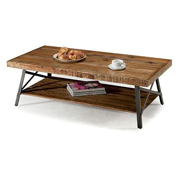 Industrial Chic Modern Classic Reclaimed Wood & Metal Coffee Table