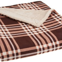 Newport Rustic Plaid Mink Fur Throw Blanket