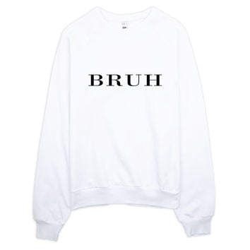 Bruh Brit Typography Raglan sweater