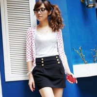 Black Buttons Embellished Ladies Skirts Wholesale : Wholesaleclothing4u.com