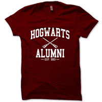 HARRY POTTER Shirt Hogwarts Alumni T-Shirt Black White Gray Maroon Unisex T-Shirt Tee S,M,L,XL #2