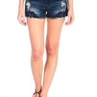 Tractr Side Lace Applique Short