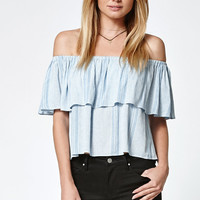 LA Hearts Stripe Off-The-Shoulder Top at PacSun.com