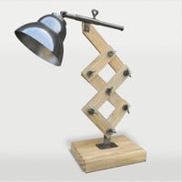 Ren-Wil LPT467 Curie Antique Silver and Polypropylene Wood One-Light Desk Lamp