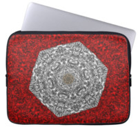Vintage Inspired  Abstract Floral Pattern Laptop Sleeves