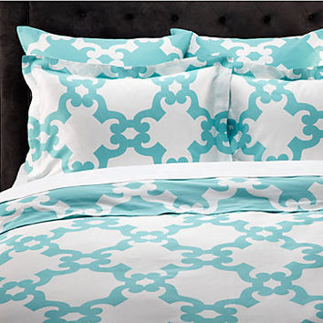 Z Gallerie - Montecito Bedding - Aquamarine
