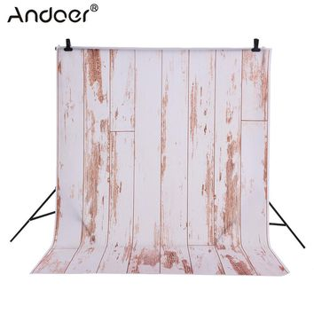 Andoer 1.5 * 2m Photography Background Backdrop Wooden Board Pattern for Children Kids Baby Photo Studio Portrait Shooting