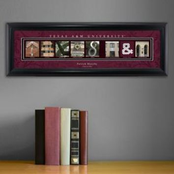 Customizable College Campus Art - Texas A&M Aggies