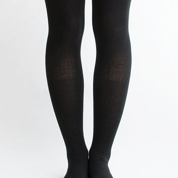 Women Lady New Hezwagarcia Cute 3 Stipres Sporty Cotton Cozy Black Over Knee Socks Tights
