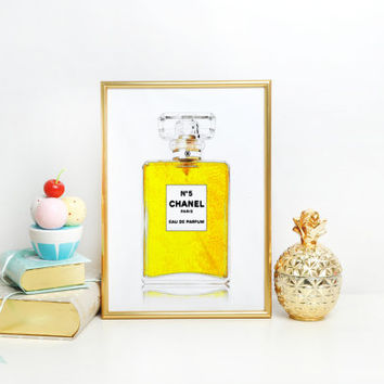 COCO Mademoiselle perfume Bottle print Coco chanel bottle coco chanel print chanel perfume Chanel Paris Fashion printable wall art