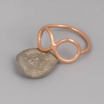 Rose Gold Infinity Ring  Handmade Sterling Silver by toolisjewelry