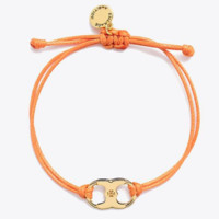 Tory Burch New fashion metal titanium steel rope adjustable personality bracelet Orange