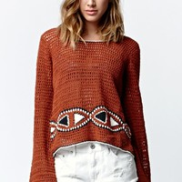 Volcom Crochet Vibe Tribe Sweater - Womens Sweater - Copper/Rust