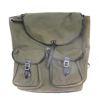 Soviet backpack large rucksack tarpaulin hunting fishing hiking khaki green knapsack