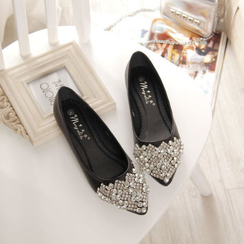 NEW Fashion 2016 Flats Shoes Women Ballet Princess Shoes For Cas 95f2337135